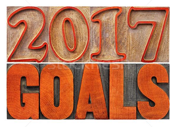 Banner drewna typu nowy rok Zdjęcia stock © PixelsAway