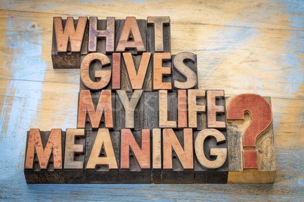 Foto stock: O · que · meu · vida · significado · palavra · abstrato