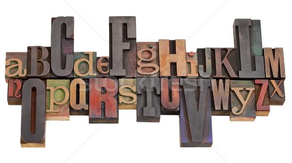 alphabet in letterpress printing blocks Stock photo © PixelsAway