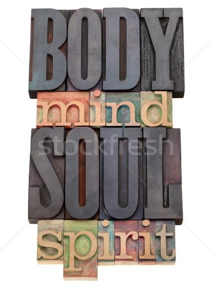 Lichaam geest ziel geest type Stockfoto © PixelsAway
