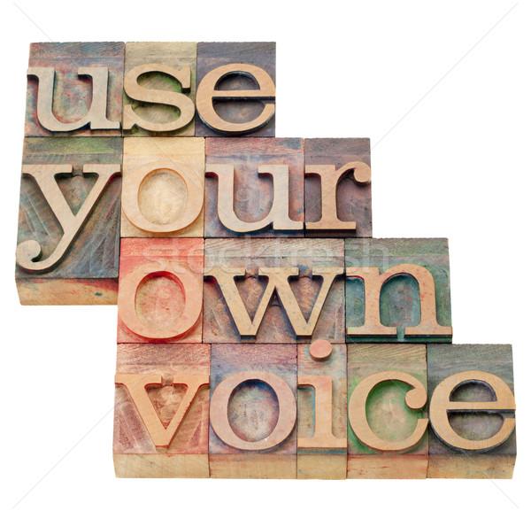 Propio voz consejo aislado texto vintage Foto stock © PixelsAway