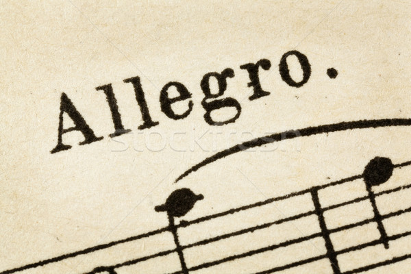 allegro - fast music tempo Stock photo © PixelsAway