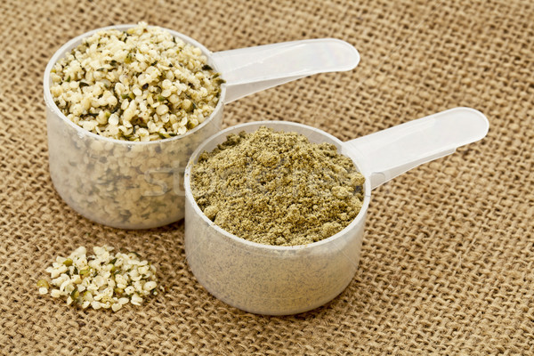 hemp protein powder and seeds Stock photo © PixelsAway