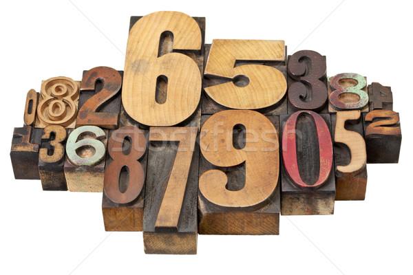 Stock fotó: Szám · absztrakt · fa · klasszikus · magasnyomás