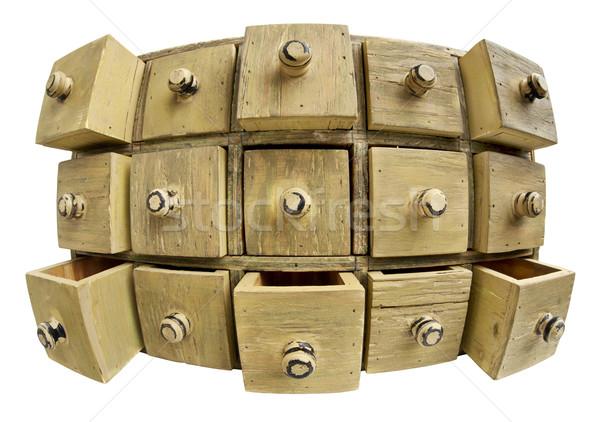 data storage concept - drawer cabinet Stock photo © PixelsAway