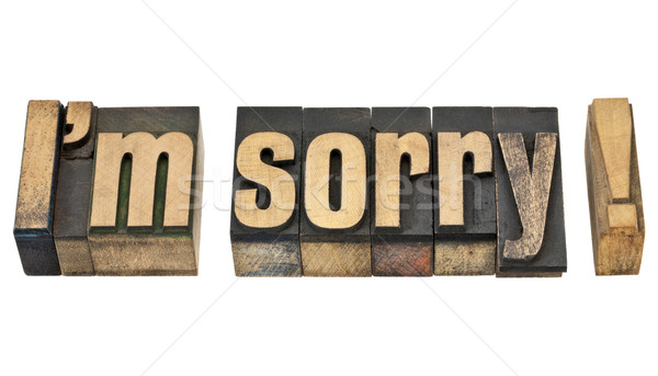 I am sorry in wood type Stock photo © PixelsAway