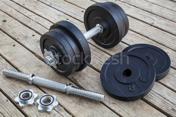 cast iron dumbbell  Stock photo © PixelsAway