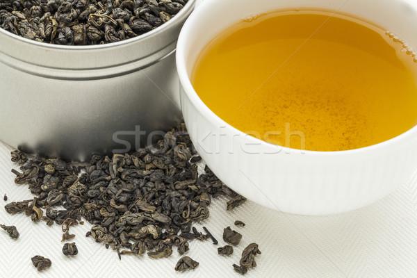Buskruit groene thee witte beker drinken los Stockfoto © PixelsAway