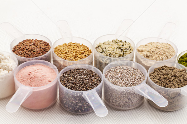 scoops of seeds and powders Stock photo © PixelsAway