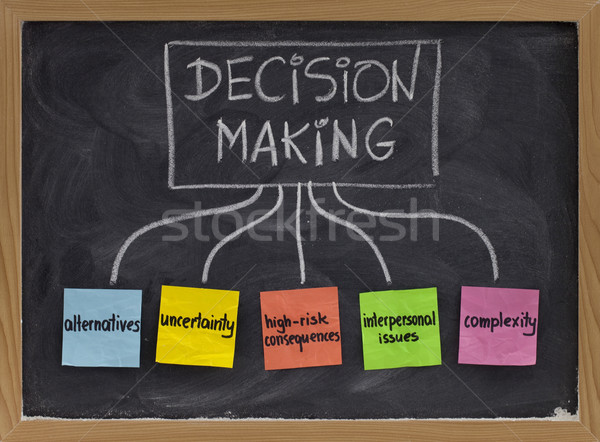 decision making concept on blackboard Stock photo © PixelsAway