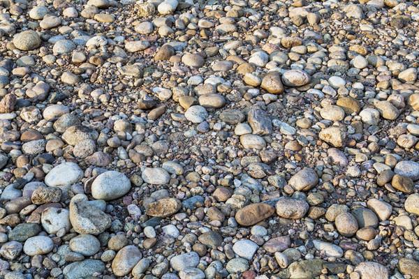 Fiume ciottoli campo rocce asciugare letto Foto d'archivio © PixelsAway