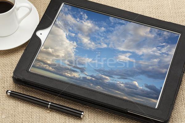 бурный цифровой вместе Сток-фото © PixelsAway