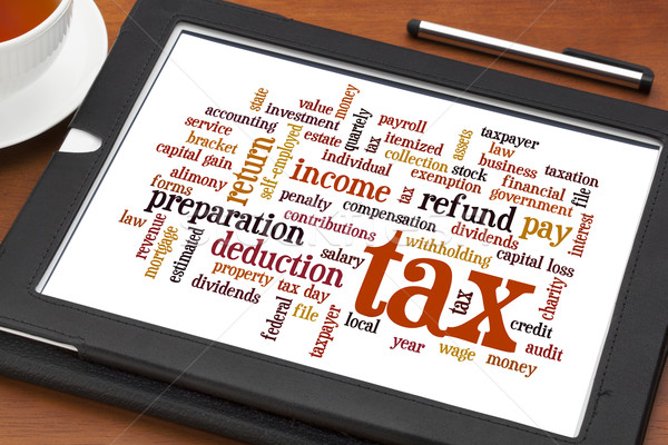 tax  word cloud  Stock photo © PixelsAway