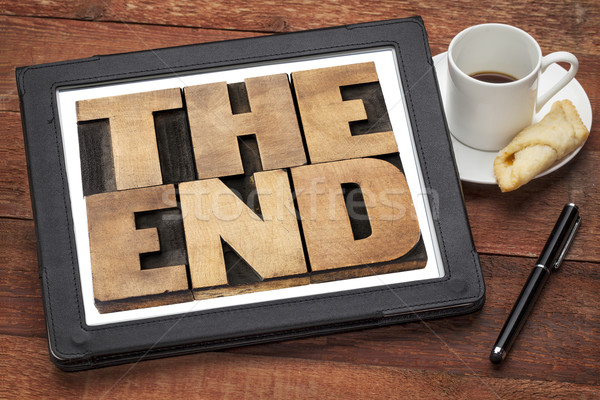 the end in wood type Stock photo © PixelsAway