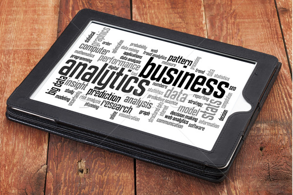 business analytics word cloud Stock photo © PixelsAway