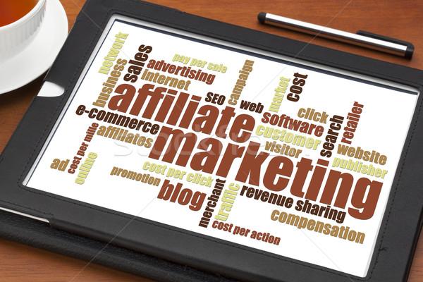 affiliate marketing word cloud  Stock photo © PixelsAway