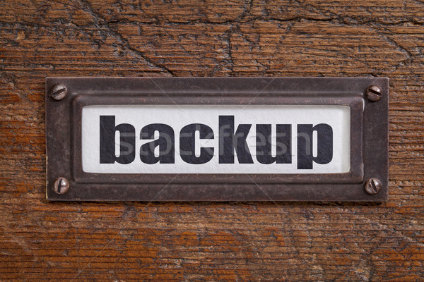 backup - file cabinet label Stock photo © PixelsAway