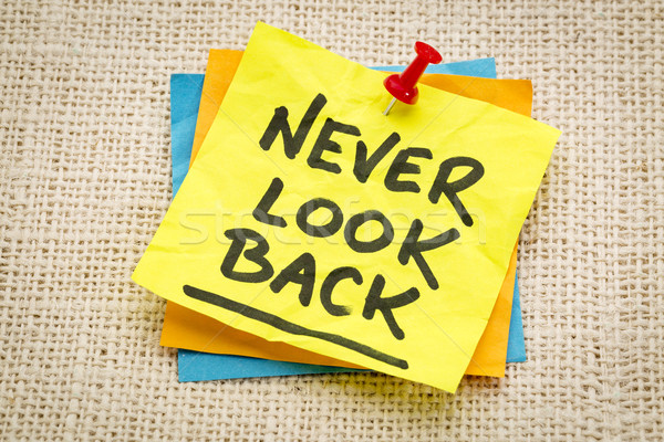Nooit kijken Maakt een reservekopie advies herinnering groene Stockfoto © PixelsAway