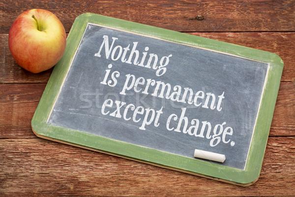 Rien changement mots sagesse tableau noir rouge Photo stock © PixelsAway