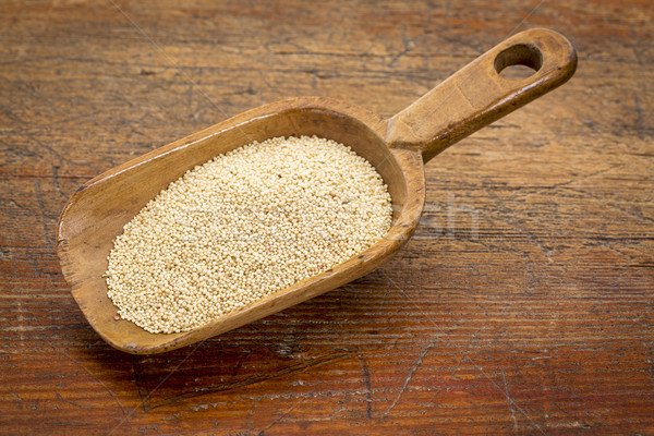 Stock photo: amaranth grain scoop