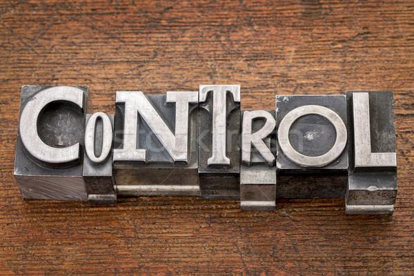 control word in metal type Stock photo © PixelsAway