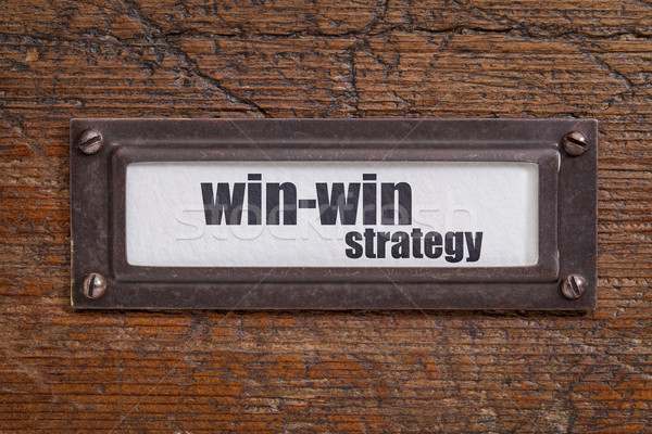 win-win strategy - file cabinet label Stock photo © PixelsAway
