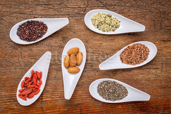 superfood grain, seed, berry, and nuts  abstract Stock photo © PixelsAway