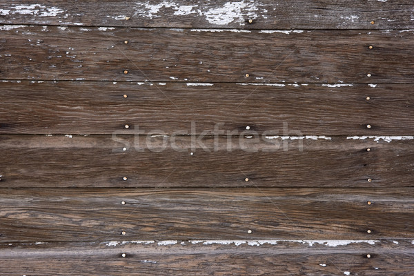 weathered wood background with traces of white paint Stock photo © PixelsAway