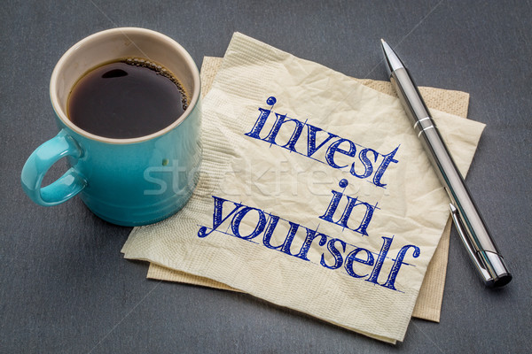 Invest in yourself advice Stock photo © PixelsAway