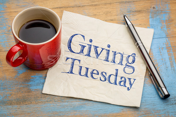 Giving Tuesday concept on napkin Stock photo © PixelsAway