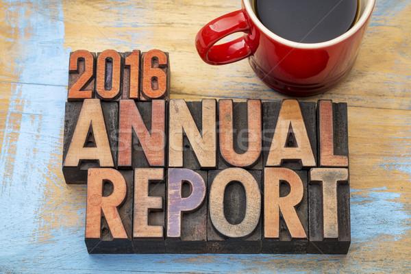 2016 éves jelentés fa szó Stock fotó © PixelsAway
