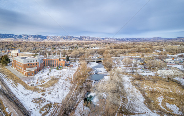 Légi városkép erőd Colorado folyó történelmi Stock fotó © PixelsAway