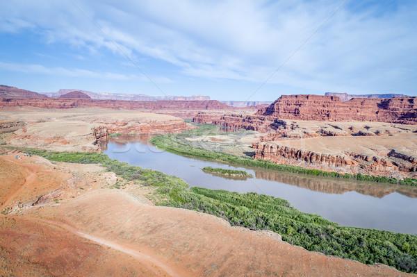 каньон реке Jeep тропе лагерь Сток-фото © PixelsAway