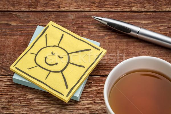 cheerful smiling sun note Stock photo © PixelsAway