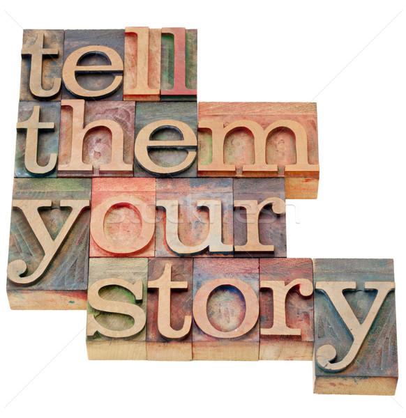 Historia consejo aislado vintage madera Foto stock © PixelsAway