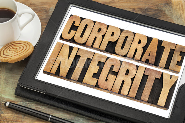 Stock photo: corporate integrity on digital tablet
