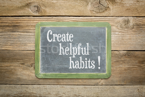 create helpful habits Stock photo © PixelsAway