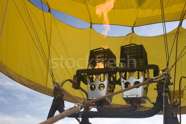 propane gas burners of hot air balloon Stock photo © PixelsAway