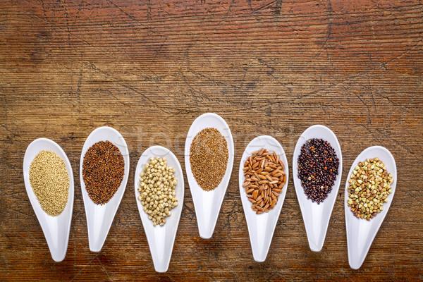 Siete saludable sin gluten marrón arroz Foto stock © PixelsAway