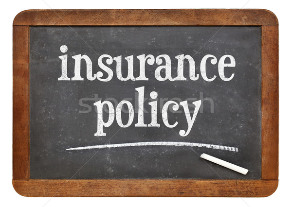 insurance policy text on blackboard Stock photo © PixelsAway