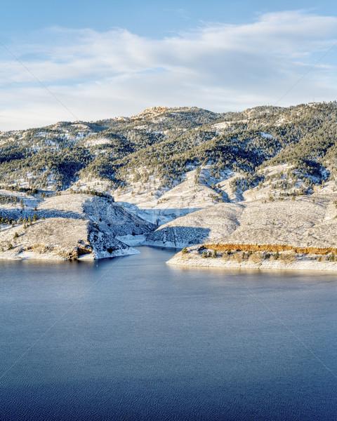 водохранилище рок зима декораций форт Сток-фото © PixelsAway