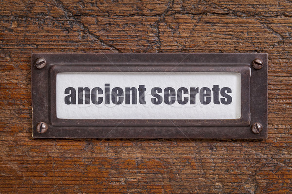 ancient secrets - file cabinet label Stock photo © PixelsAway