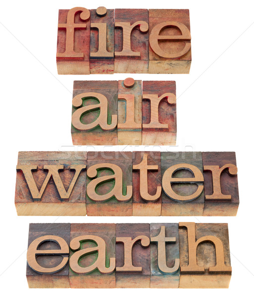 fire, air, water and earth Stock photo © PixelsAway