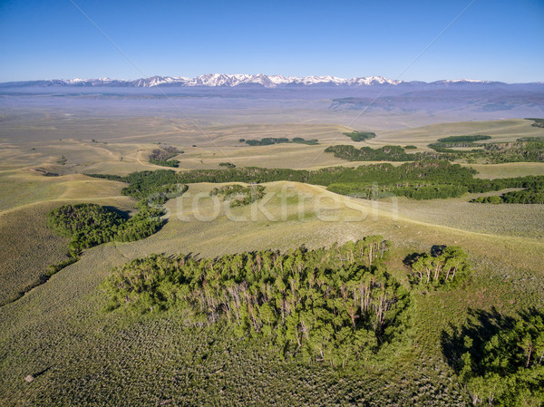 Na północ parku widok z lotu ptaka górskich Colorado Zdjęcia stock © PixelsAway