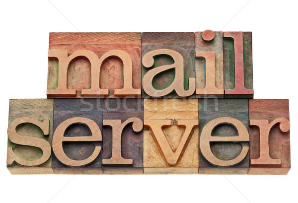 почты сервер слов интернет компьютер изолированный Сток-фото © PixelsAway