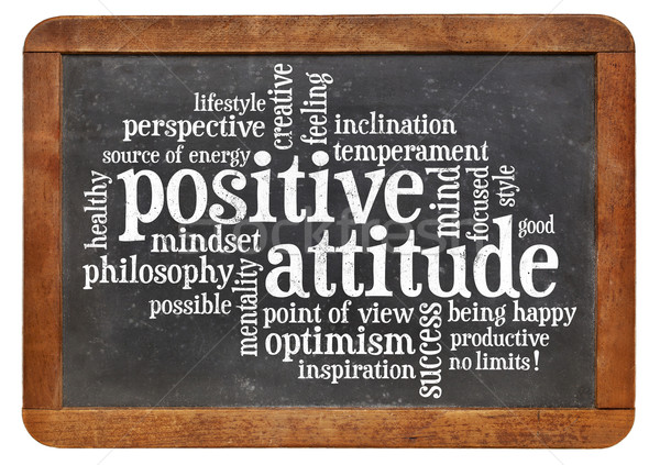 positive attitude concept on blackboard Stock photo © PixelsAway