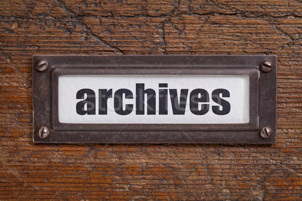 archives  tag - file cabinet label Stock photo © PixelsAway
