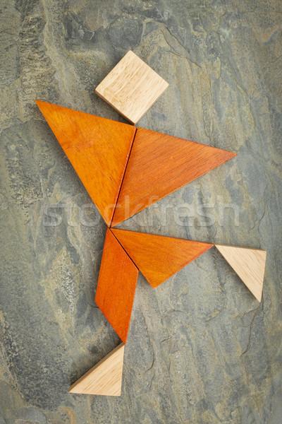 tangram dancing or running figure Stock photo © PixelsAway
