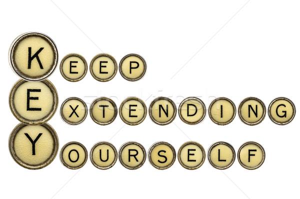 себя ключевые мотивация акроним изолированный Vintage Сток-фото © PixelsAway