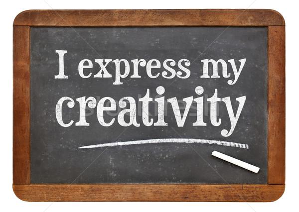 I express my creativity positive affirmation Stock photo © PixelsAway